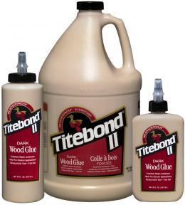 "Tamsūs  (Rudi) Medienos Klijai ""Titebond II Dark Wood Glue"""