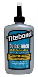 """Tiksotropiniai Universalūs PVA klijai (greito džiūvimo) """"Titebond Quick & Thick Multi-Surface Glue"""""""