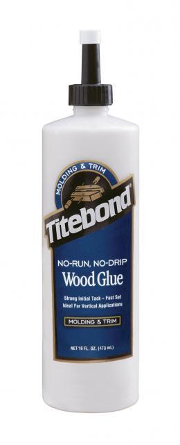 """Tiksotropiniai PVA Klijai Medienai (greito džiūvimo) """"Titebond No-Run, No-Drip Wood Glue"""""""